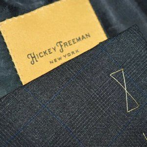 NEW 44L Hickey Freeman CURRENT Gray Blue BLAZER